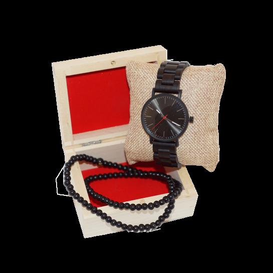 Dřevěné Hodinky –  Brilliance (Unisex) set