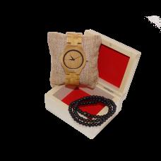 Dřevěné Hodinky – Bamboo Elegance (Unisex) set