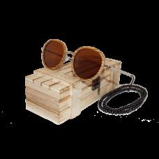 Sluneční Dřevěné Brýle – Round (Unisex) set