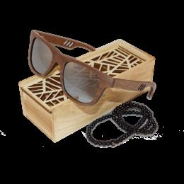 Sluneční Dřevěné Brýle – Lines (Unisex)