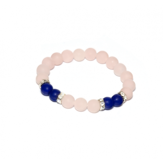Náramek z Minerálů - Růženín / Tyrkys Modrý